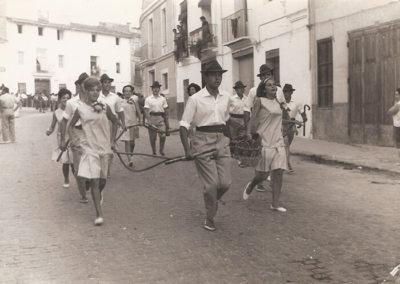 Bajada cuerda y badana Clavaria. 1962