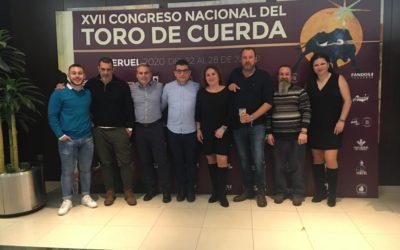 Chiva en la Gala anual de la Federación Española del Toro de Cuerda