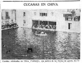 Las popularisimas cucañas de 1935.