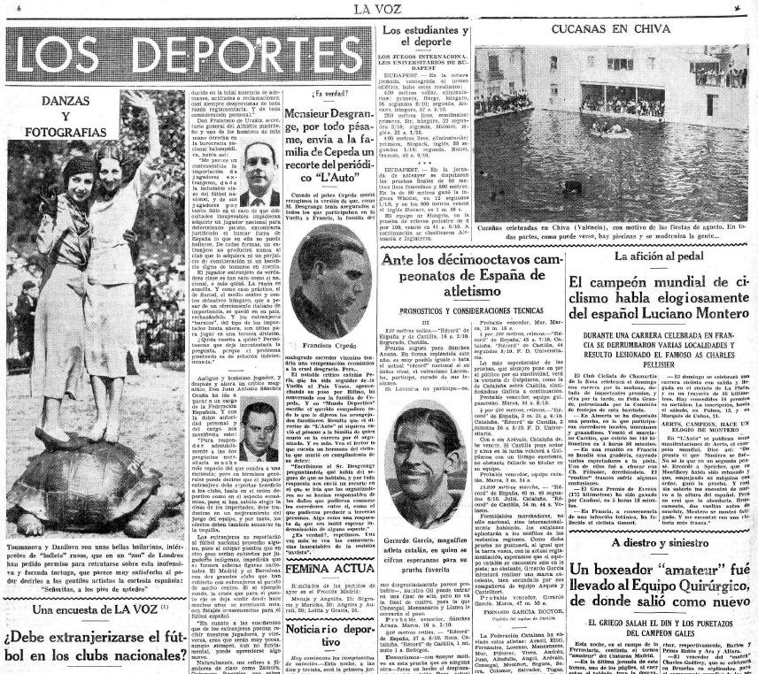 Detalle periódico La Voz. 22-08-1935.