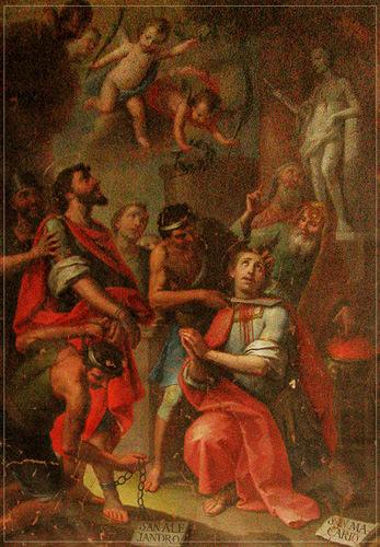 San Alejandro y San Macario. Óleo José Vergara en la iglesia parroquial.