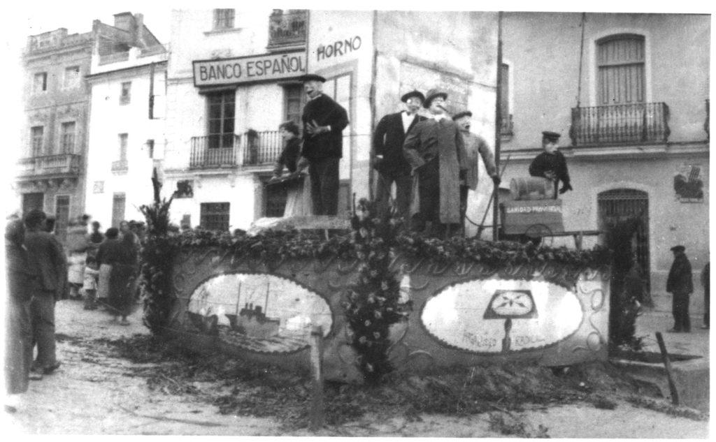 Falla de Santa Ana.1935. Fotografía Archivo L. Fenech.