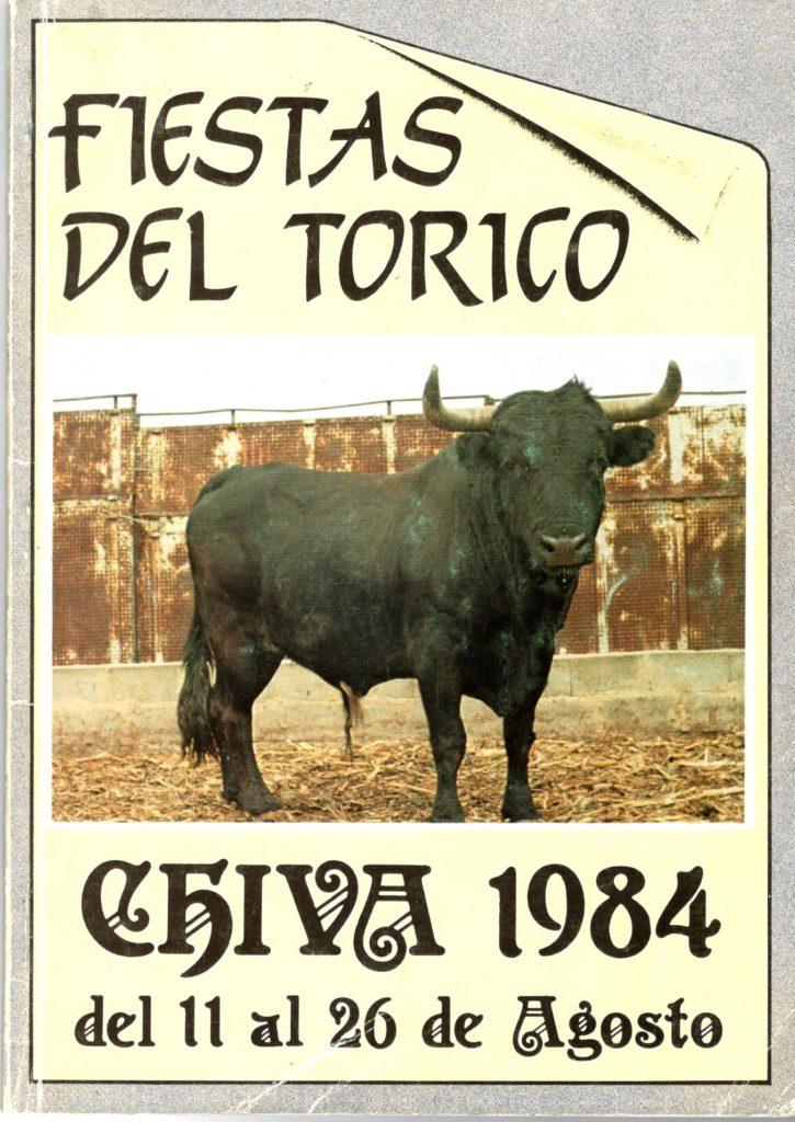 Portada del programa de Fiestas de 1984.