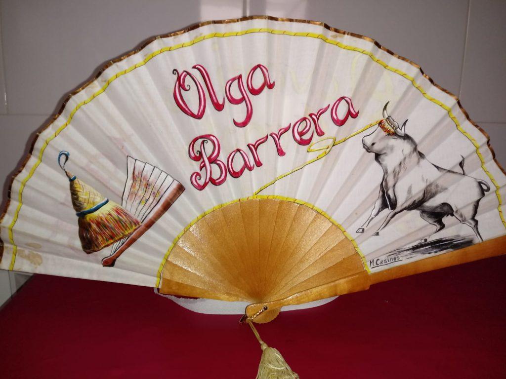 Abanico de Olga Barrera. Clavaría de 1995. M. Casinos.
