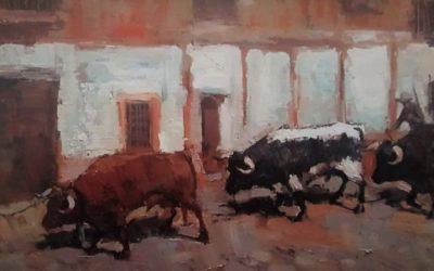 """Una anécdota retratada: La """"Entrá"""" de toros de cuerda de 1946."""