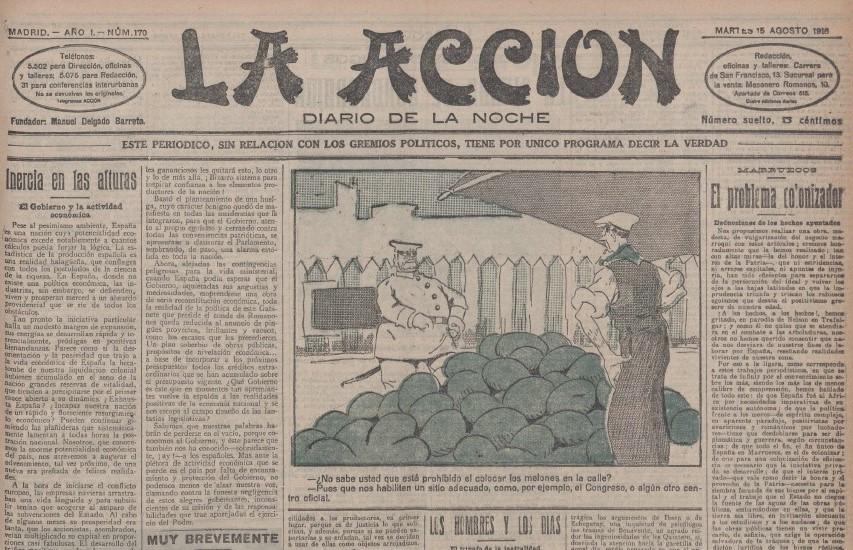 Diario La Acción. 15 agosto 1916.