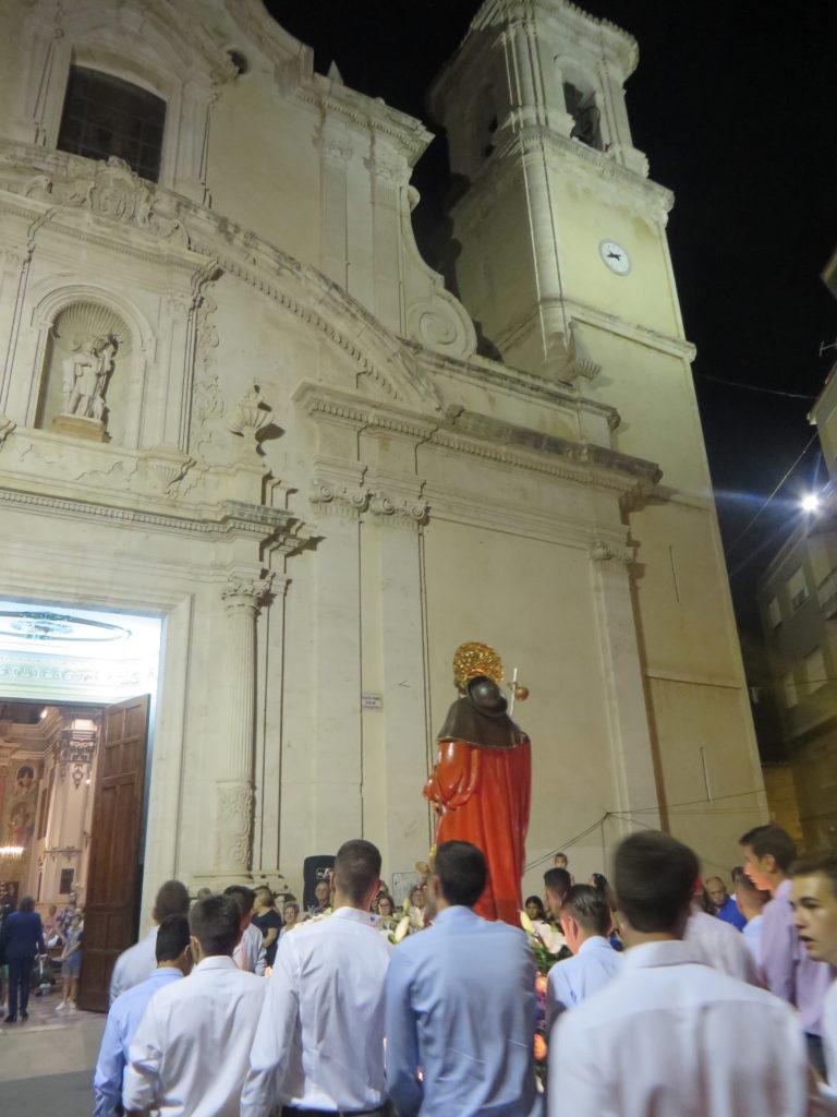 San Roque en procesión.