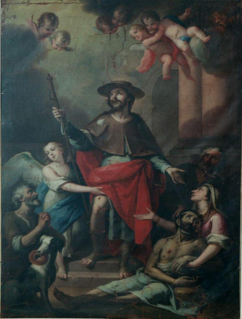 San Roque y los apestados. José Vergara. Iglesia San Juan Bautista de Chiva.