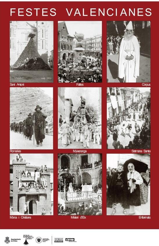 Fiestas valencianas. cartel anunciador.